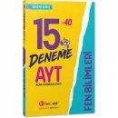 AYT Fen Bilimleri 15x40 Deneme FenCebir Yayınları