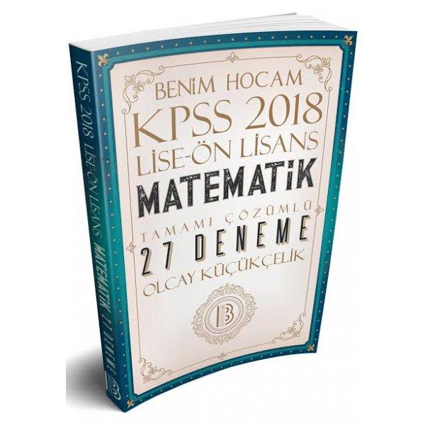 2018 KPSS Lise Önlisans Matematik Tamamı Çözümlü 27 Deneme  Benim Hocam Yayınları