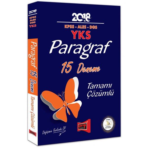 Yargı Yayınları 2018 KPSS ALES DGS YKS Paragraf Tamamı Çözümlü 15 Deneme