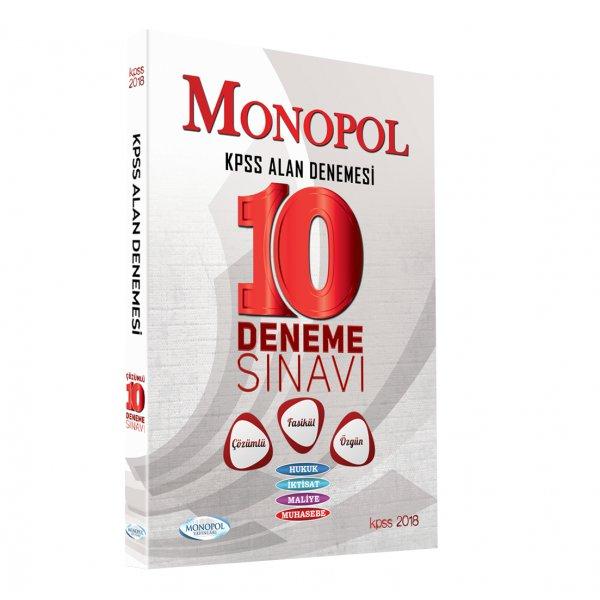 2018 KPSS A Grubu Tamamı Çözümlü 10 Fasikül Deneme Sınavı Monopol Yayınları