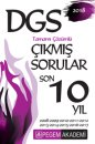 2018 DGS Tamamı Çözümlü Son 10 Yıl Çıkmış Sorular Pegem Yayınları
