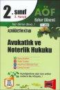 Yargı Yayınları Açıköğretim 2.Sınıf 2.Yarıyıl Avukatlık ve Noterlik Hukuku 4103