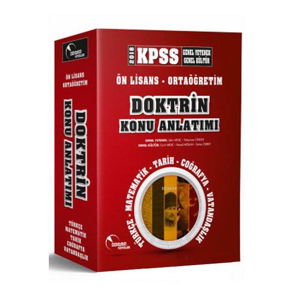 2018 KPSS Ortaöğretim Ön Lisans Konu Anlatımı 2 li Set Doktrin Yayınları