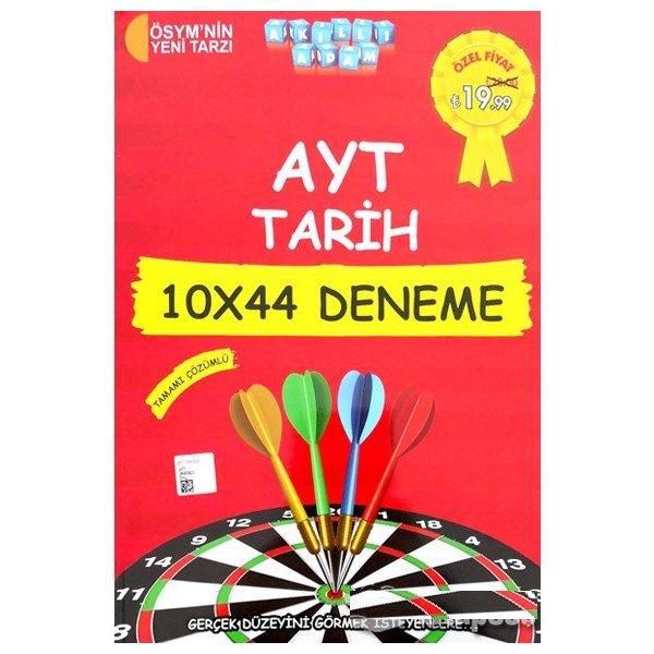 AYT Tarih Tamamı Çözümlü 10x44 Deneme Akıllı Adam Yayınları