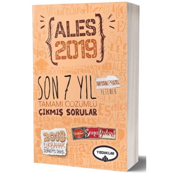 2019 ALES Son 7 Yıl Tamamı Çözümlü Çıkmış Sorular 2018 İlkbahar Dönemi Dahil Yediiklim Yayınları