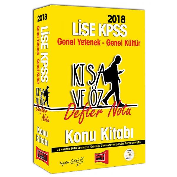 2018 KPSS Lise Mezunları İçin Genel Yetenek Genel Kültür Kısa ve Öz Defter Notu Konu Kitabı Yargı Yayınları