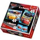 Trefl Puzzle Cars Next-Gen, Disney 2 in 1 + Memos Puzzle