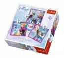 Trefl Puzzle Frozen Winter Magic, Disney 20+36+50 Parça 3 in 1 Puzzle