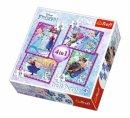 Trefl Puzzle Frozen Winter Frenzy, Disney 35+48+54+70 Parça 4 in 1 Puzzle