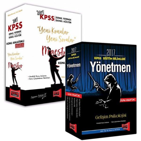 2019 KPSS Öğretmen Adaylarına Özel GY-GK Maestro Konu Seti Eğitim B. Konu Seti Hediyeli Toplam 11 Kitap Yargı Yayınları