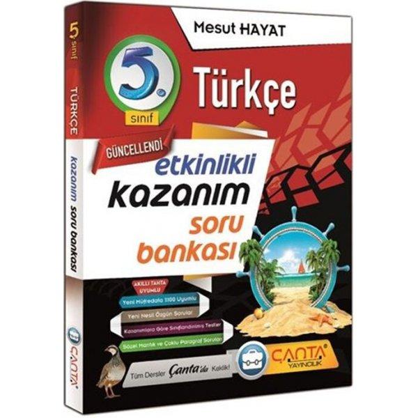 5. Sınıf Türkçe Etkinlikli Kazanım Soru Bankası Mesut Hayat Çanta Yayınları
