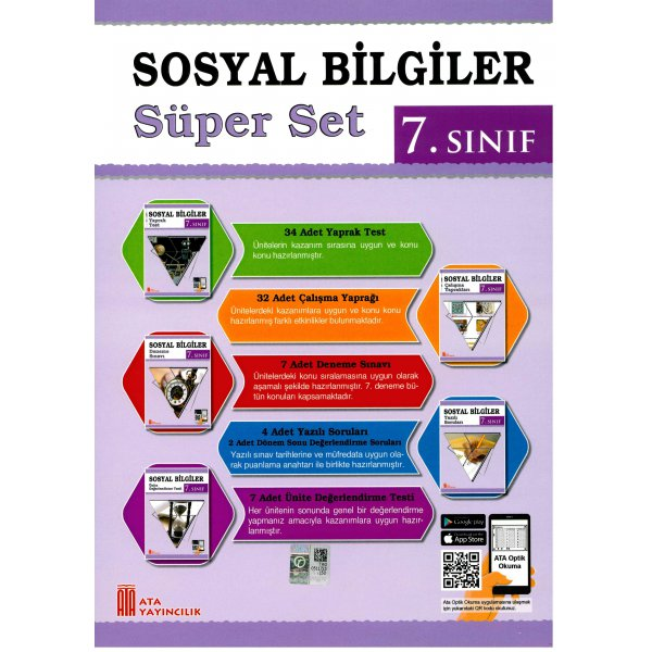 7. Sınıf Sosyal Bilgiler Süper Set Ata Yayınları