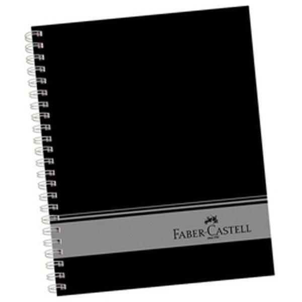 Faber-Castell A4 Sert Kapak Seperatörlü 3+1 Siyah Defter 160 Yaprak