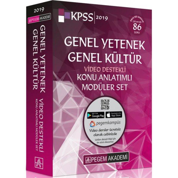 2019 KPSS Genel Yetenek Genel Kültür Video Destekli Konu Anlatımlı Modüler Set 6 Kitap Pegem Akademi Yayınları