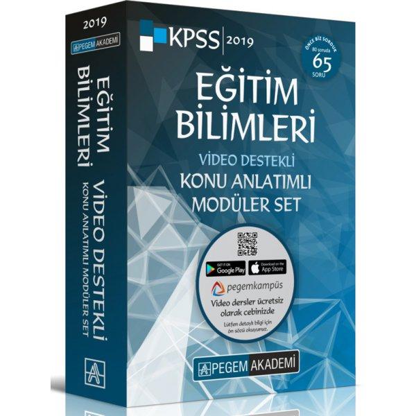 2019 KPSS Eğitim Bilimleri Video Destekli Konu Anlatımlı Modüler Set 6 Kitap Pegem Akademi Yayınları