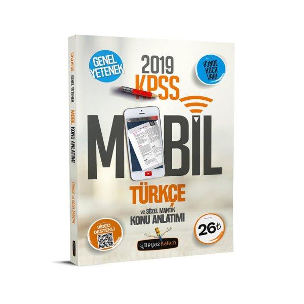 2019 KPSS Türkçe Sözel Mantık Mobil Konu Anlatımı Beyaz Kalem Yayınları