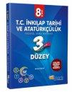 8. Sınıf T.C. İnkılap Tarihi ve Atatürkçülük 3 Düzey Fasikül Soru Bankası Martı Okul Yayınları