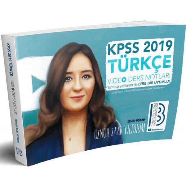 2019 KPSS Türkçe Video Ders Notları Öznur Saat Yıldırım Benim Hocam Yayınları