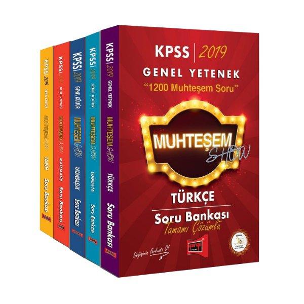 2019 KPSS Muhteşem Show Genel Yetenek Genel Kültür Tamamı Çözümlü Soru Bankası Seti Yargı Yayınları