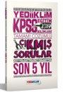 2019 KPSS Eğitim Bilimleri Tamamı Çözümlü Son 5 Yıl Çıkmış Sorular Yediiklim Yayınları