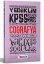 2019 KPSS Genel Kültür Coğrafya Tamamı Çözümlü Çıkmış Sorular Yediiklim Yayınları