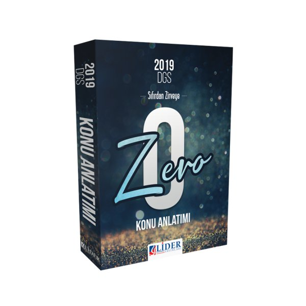 2019 DGS Zero Konu Anlatımlı Tek Kitap Lider Yayınları