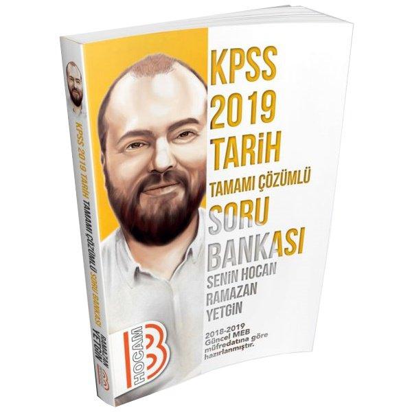 2019 KPSS Tarih Tamamı Çözümlü Soru Bankası Ramazan Yetgin Benim Hocam Yayınları