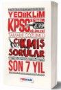 2019 KPSS Eğitim Bilimleri Tamamı Çözümlü Son 7 Yıl Çıkmış Sorular Yediiklim Yayınları