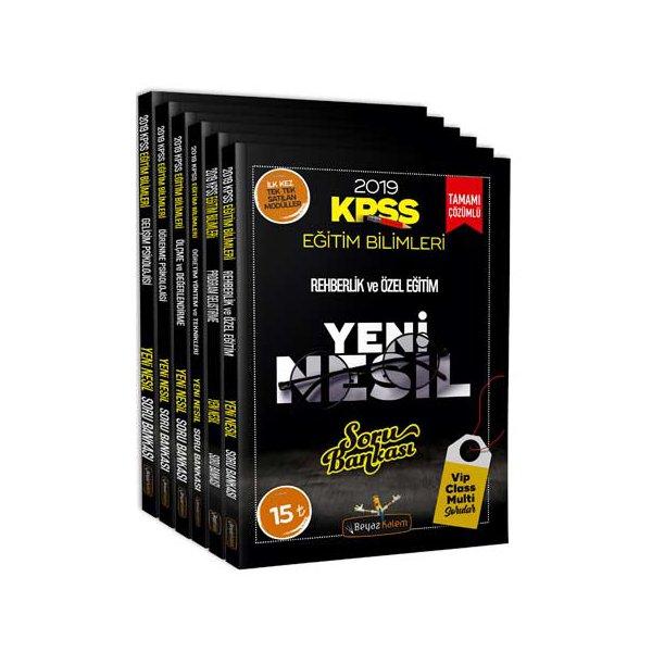 Beyaz Kalem Yayınları 2019 KPSS Eğitim Bilimleri Tamamı Çözümlü Soru Bankası Seti