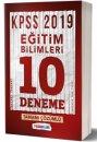 2019 KPSS Eğitim Bilimleri Tamamı Çözümlü 10 Deneme Sınavı Yediiklim Yayınları