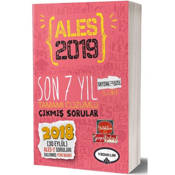 2019 ALES Son 7 Yıl Tamamı Çözümlü Çıkmış Sorular Yediiklim Yayınları
