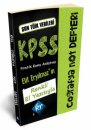 2020 KPSS Coğrafya Konu Anlatımlı Not Defteri KR Akademi