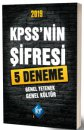 2019 KPSS'nin Şifresi Genel Yetenek Genel Kültür  5 Deneme KR Akademi