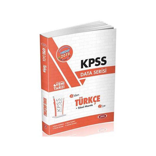 2019 KPSS Türkçe Konu Anlatımlı Data Yayınları