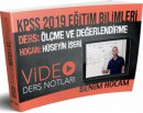 2019 KPSS Eğitim Bilimleri Ölçme ve Değerlendirme Video Ders Notları Hüseyin İşeri Benim Hocam Yayınları
