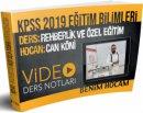 2019 KPSS Eğitim Bilimleri Rehberlik ve Özel Eğitim Video Ders Notları Can Köni Benim Hocam Yayınları