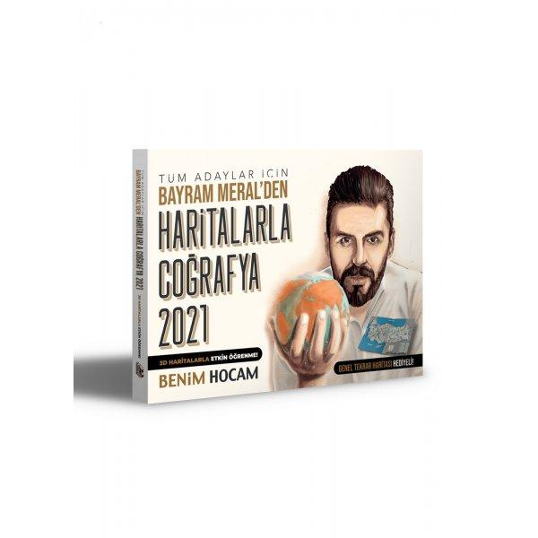 2021 KPSS Tüm Adaylar İçin Haritalarla Coğrafya Kitabı Bayram Meral Benim Hocam  Yayınları