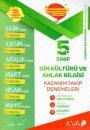5. Sınıf Din Kültürü ve Ahlak Bilgisi Kazanım Takip Denemeleri KVA Yayınları