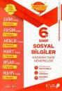 6. Sınıf Sosyal Bilgiler Kazanım Takip Denemeleri KVA Yayınları