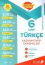 6. Sınıf Türkçe Kazanım Takip Denemeleri KVA Yayınları