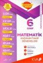 6. Sınıf Matematik Kazanım Takip Denemeleri KVA Yayınları