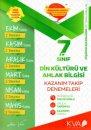 7. Sınıf Din Kültürü ve Ahlak Bilgisi Kazanım Takip Denemeleri KVA Yayınları