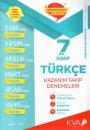 7. Sınıf Türkçe Kazanım Takip Denemeleri KVA Yayınları