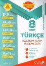 8. Sınıf Türkçe Kazanım Takip Denemeleri KVA Yayınları