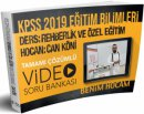 2019 KPSS Eğitim Bilimleri Rehberlik ve Özel Eğitim Video Soru Bankası Can Köni Benim Hocam Yayınları
