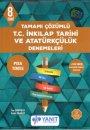 8. Sınıf Tamamı Çözümlü T.C. İnkılap Tarihi ve Atatürkçülük Denemeleri Yanıt Yayınları