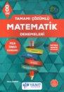 8. Sınıf Tamamı Çözümlü Matematik Denemeleri Yanıt Yayınları