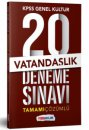 2019 KPSS Genel Yetenek Vatandaşlık Tamamı Çözümlü  20 Deneme Sınavı Yediiklim Yayınları