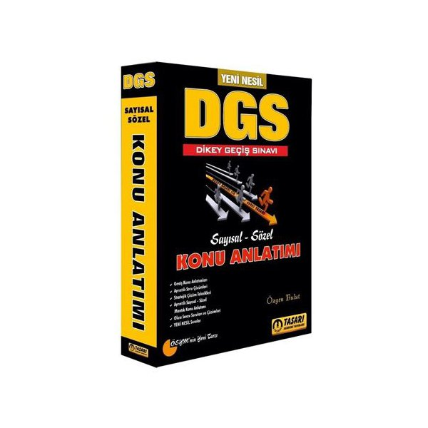 2019 DGS Yeni Nesil Konu Anlatımlı Tek Kitap Tasarı Yayınları