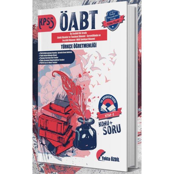 Yekta Özdil 2019 ÖABT Türkçe Öğretmenliği Konu Anlatımlı Soru Bankası Yol Arkadaşım Serisi 3. Kitap
